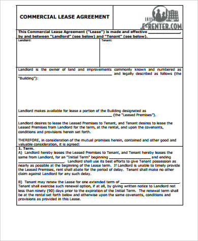 Free 37+ Sample Lease Agreement Templates In Ms Word | Pdf with regard to New Business Lease Agreement Template Free