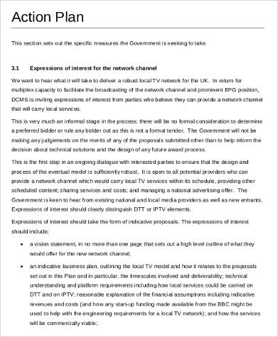 Free 38+ Example Of Action Plans Samples In Ms Word   Pdf for New Free Business Plan Template Australia