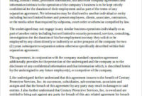 Free 6+ Sample Business Non-Compete Agreement Templates In throughout Unique Business Templates Noncompete Agreement