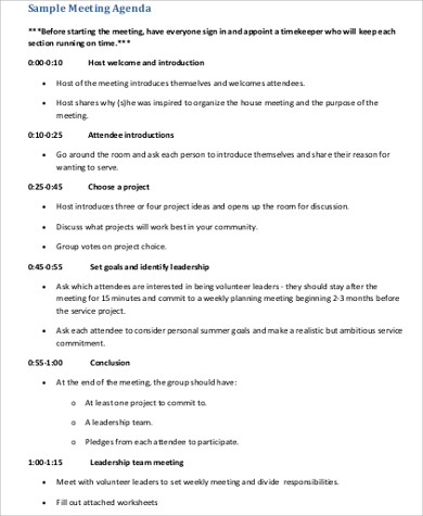 Free 6+ Team Meeting Agenda Samples In Pdf | Ms Word Pertaining To Agenda And Meeting Minutes Template