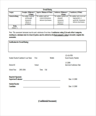 Free 8+ Performance Evaluation Samples In Pdf | Ms Word with Business Process Evaluation Template
