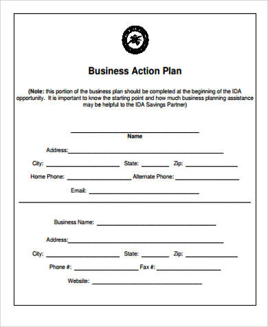 Free 8+ Sample Business Action Plan Templates In Pdf | Ms Word for Business Development Template Action Plan