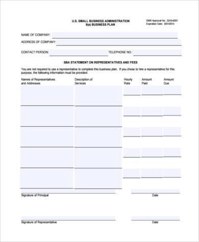 Free 8+ Sample Business Management Forms In Pdf   Ms Word regarding Sba Business Plan Template Pdf