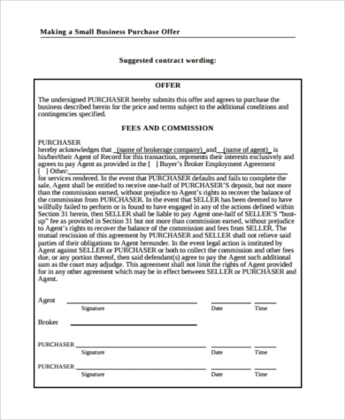 Free 8+ Sample Business Purchase Agreements In Pdf | Ms Word within New Business Contract Template For Partnership