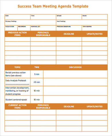 Free 8+ Sample Meeting Agenda Templates In Ms Word | Pdf in Agenda For A Meeting Template