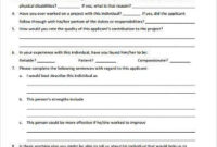 Free 8+ Sample Reference Questionnaire Forms In Pdf | Ms Word Throughout Business Reference Template Word