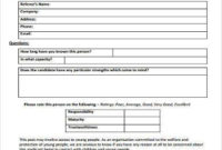 Free 8+ Sample Reference Questionnaire Forms In Pdf | Ms Word With Regard To Fresh Business Reference Template Word