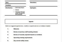 Free 8+ Sample Staff Meeting Agenda Templates In Pdf for Meeting Agenda Sample Template Free