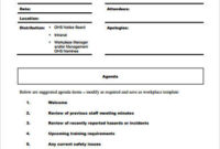Free 8+ Sample Staff Meeting Agenda Templates In Pdf intended for Agenda And Meeting Minutes Template