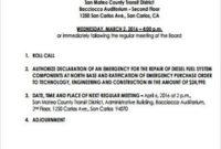 Free 9+ Board Meeting Agenda Samples In Pdf | Ms Word in Committee Meeting Agenda Template