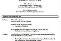 Free 9+ Board Meeting Agenda Samples In Pdf | Ms Word inside Committee Meeting Agenda Template