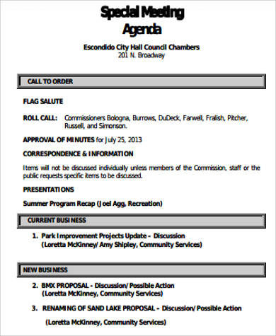 Free 9+ Business Meeting Agenda Samples In Ms Word   Pdf pertaining to Agenda Template For Nonprofit Board Meeting