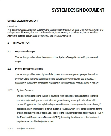 Free 9+ Design Document Samples In Ms Word | Pdf inside Unique Business Requirements Document Template Pdf