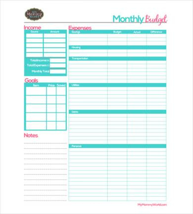 Free 9+ Monthly Business Budget Samples In Pdf | Ms Word throughout Business Budgets Templates