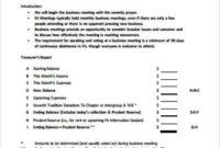 Free 9+ Sample Business Meeting Agenda Templates In Pdf regarding Simple Meeting Agenda Template