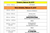 Free 9+ Sample Conference Agenda Templates In Pdf | Ms Word throughout Agenda Template For Event