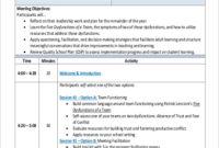 Free 9+ Team Meeting Agenda Samples In Ms Word | Pdf within Sample Agenda Template For Meetings