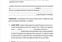 Free Arizona Rental Lease Agreement Templates | Pdf inside Business Lease Agreement Template