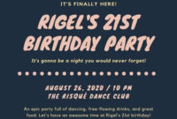 Free Birthday Flyers Templates To Customize | Canva throughout Quality Sports Bar Business Plan Template Free