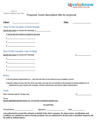 Free Business Proposal Samples intended for Unique Very Simple Business Plan Template