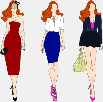 Free Clip Art Fashion Model Silhouette Free Vector Intended For Business Attire For Women Template