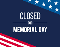 Free Closed For Memorial Day 2020 Sign Templates | Signs with Business Closed Sign Template