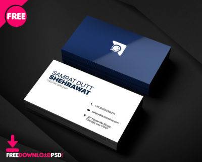 Free Corporate Business Card Template   Freedownloadpsd inside New Blank Business Card Template Psd