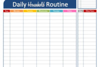 Free Daily Household Routine Printable | Fab N' Free regarding Agenda Template For Students