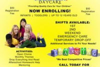 Free Daycare Flyers | Follow Lauren-Ashley Barnes in Daycare Center Business Plan Template