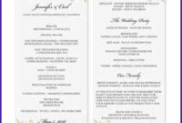 Free Downloadable Wedding Program Template That Can Be in Wedding Reception Agenda Template