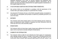 Free Employment Contract Template – Pdf   7 Page(S regarding Quality Cleaning Business Contract Template