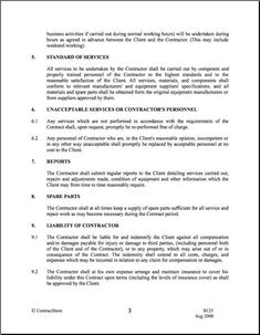 Free Employment Contract Template - Pdf   7 Page(S regarding Quality Cleaning Business Contract Template