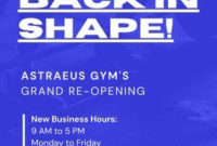 Free Gym Posters Templates To Customize | Canva with Business Plan Template For A Gym