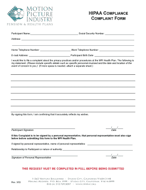 Free Hipaa Compliance Forms Download - Fill Out Online pertaining to Business Associate Agreement Hipaa Template