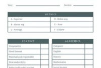 Free Homeschool Report Cards Templates To Customize | Canva within Record Label Business Plan Template Free