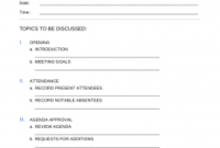 Free Hr Meeting Agenda Template | Sample - Word | Pdf - Eforms with regard to Create A Meeting Agenda Template