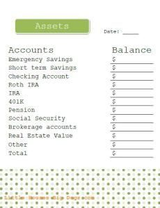 Free Investment Printables Asset Tracker | Budget Planning inside Real Estate Investment Partnership Business Plan Template