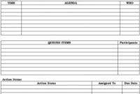 Free Meeting Agenda Template ~ Addictionary pertaining to Free Meeting Agenda Template Microsoft Word