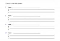 Free Meeting Agenda Template | Sample - Word | Pdf - Eforms intended for Sample Board Meeting Agenda Template