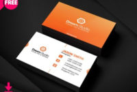 [Free] Modern Corporate Business Card   Freedownloadpsd with regard to Quality Business Card Template Size Photoshop
