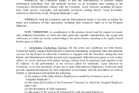 Free Nj Subcontractor Agreement Template – Fill Online For Business Coaching Contract Template