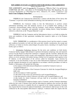 Free Nj Subcontractor Agreement Template - Fill Online for Business Coaching Contract Template