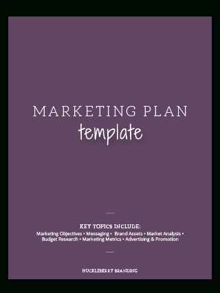 Free Online Marketing Tools | Huckleberry Branding with Quality Business Plan Cover Page Template