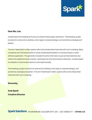 Free, Printable Business Letterhead Templates To Customize intended for Unique Free Online Business Letterhead Templates