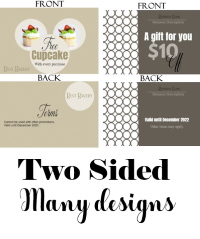Free Printable Gift Certificate Templates | Customize Then Pertaining To Unique 2 Sided Business Card Template Word