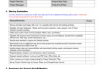 Free Project Management Kickoff Meeting Template pertaining to Kick Off Meeting Agenda Template