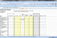 Free Renovation Budget Spreadsheet Download In 2019 | Home for Small Business Budget Template Excel Free
