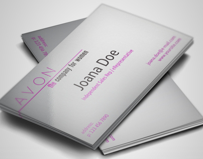 Free Template: Avon Representative Business Cards On Behance with regard to Unique Free Template Business Cards To Print