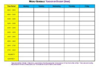 Free : Week Planner, Weekly Schedule Form Daily / Hourly with regard to Weekly Agenda Template Notion