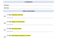 Free Weekly Meeting Agenda Template | Sample - Word | Pdf regarding Create A Meeting Agenda Template